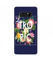 Coque Galaxy NOTE 8 Tropical bleu ananas summer exotique beach