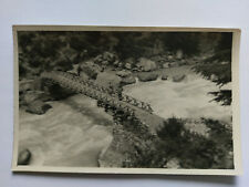 Vintage Kashmir, India B&W Postcard c1950s Bridge