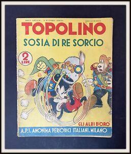 ⭐ Albi d'Oro Anteguerra Disney # 24 - TOPOLINO RE SORCIO - 1938 - DISNEYANA.IT ⭐