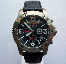 Mercedes Benz Classic Aviator Pilot Titanium Business Sport Watch Chronograph