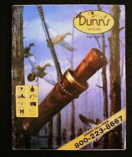 Vintage Dunn'S Catalog, Fall 1985, Hunting, Fishing, Decoys, Boots, Very Good Cn