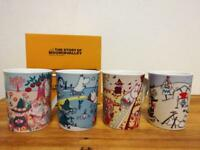 Moomin Valley Four seasons Mug Cup Yamaka 4 set Made in Japan New