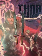 Hot Toys Thor Ragnarok Gladiador MMS445 Azul espadas X 2 Suelto Escala 1/6th