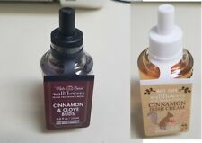 Cinnamon Irish Cream and Cinnamon Clove Wallflowers White Barn Bath Body Works