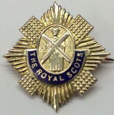Vintage 9ct gold The Royal Scots Pin/ Badge/ Sweetheart 4 Grams