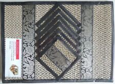 REED PLACEMATS WITH COASTERS | 6-Pack | Black