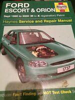Haynes Workshop Manual 1737 Ford Escort & Orion Petrol Sept 1990 - 2000 H to X 3