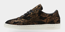 10.5 Reebok Club C 85 AFF CM9621 METALLC SNAKE Pattern -BLACK/CHALK Shoes x1