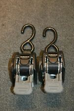 "BoatBuckle Retractable Transom Tie-Down 6ft x 1"" Pair new"