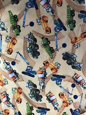 Construction Quilting Fabric, New, Cement Mixer, Crane, Loader Yards, Cotton