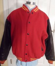 Varsity Letterman Jacket by Smith & Hawken -- Wool & Leather -- Mens Sz L -- USA