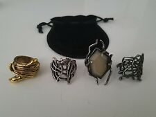 Thranduil Lord of the Rings Hobbit Lot of 4 different Rings Combo LOTR