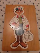 Vintage 7 Piece Wood Jigsaw Puzzle Milkman