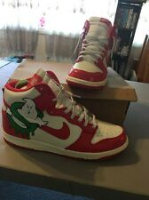 Nike Sb CUSTOM Ghost Busters Size 12.5 Nike Dunk High  No Reserve Glow Laces