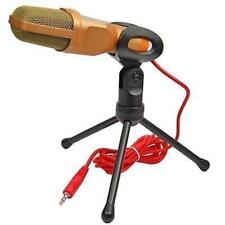 Gold Microphone Mic for Laptop PC Computer MSN Skype Web Chat Gaming Online