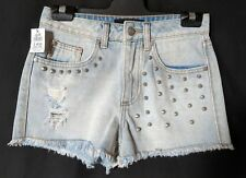 WOMEN'S SHORTS DOTTI MINI DISTRESSED COTTON SIZE 6 NWT RRP $49.95 FREE POSTAGE