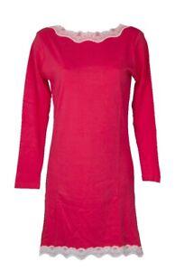 SG Camicia da notte donna manica lunga scollo a barchetta cotone interlock RAGNO