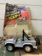 Vintage ARCO IND 1:43 Red Motorized Push Friction Car Jeep Willys - Hong Kong