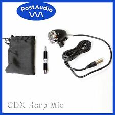 "Post Audio CDX Harmonica Harp & Vocal Mic Volume Knob, Bag & 1/4"" Transformer"