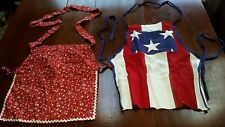 Pair of Aprons! 1) The American Flag-Perfect for Holidays. 2) Country pattern