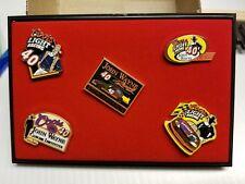 (5) John Wayne NASCAR Collector Pins Coors Light Sterling Marlin #40 ln Case