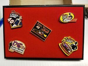 5 - John Wayne NASCAR Collector Pins Coors Light Sterling Marlin #40 ln Case (5)
