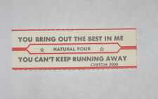 x1 Natural Four Jukebox Title Strip You Bring Out the Best In Me You Can't Keep