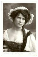 Antique RPPC postcard Miss Marie Dean actress stage theatre music