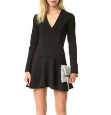 NWT Finders Keepers Round Up Black Dress Sz S Open Back Long Sleeve MSRP $290