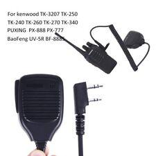 1PCS KMC-21 Handheld Speaker Microphone For BaoFeng Kenwood TK-240 TK-250 TK-450