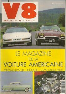 V8 MAGAZINE 1 CHEVROLET CORVETTE 62 PLYMOUTH BARRACUDA FIREBIRD FORMULA 400 1970