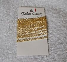 1 Metre Continuous GOLD PLATED CHAIN 5mm x 3mm 1m For NECKLACES Bracelets Etc