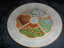 "Vintage 1986 Avon ""The Four Seasons"" Calendar Plate 1986 Euc"