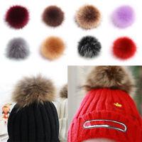 Faux Fur Pom Pom Balls Soft Fluffy Handbag Phone Pendant Keyring Decor Making