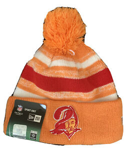 New Rare 2014 New Era Tampa Bay Buccaneers Throwback Sideline Beanie With Tag
