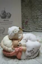 Precious Moments Ornament Babys 1st First Christmas 2018 Girl & Teddy in Basket