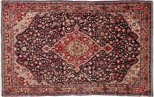 Teppich Malayer ca. 125x200 cm   Rot Blau Beige   Schurwolle   handgeknüpft