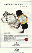 PUBLICITE ADVERTISING  1995  OMEGA   Montre    la NOUVELLE DE VILLE