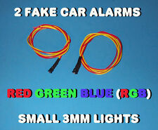 FAKE CAR ALARM LED LIGHT- 3mm RED / GREEN / BLUE  (RGB) 12v 24v  blink blinking