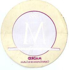 Autocollant sticker MADRID 1992 rose