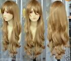 Hot Sell! New Long Cosplay Dark Blonde Wavy Wigs W19  Free Shipping