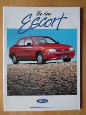 FORD Escort Mk4 1990 prestigio folleto - Popular, Cabriolet, LX, GLX, Ghia etc