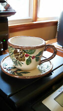 Yankee Candle Christmas Tea cup & Saucer Votive Holder NEW Ceramic Gift Box