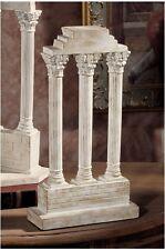 Classical Roman Forum Castor Temple Straight Column Artifact Replica Sculpture