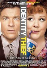 Identity Thief movie poster 11 x 17 inches : Jason Bateman, Melissa McCarthy