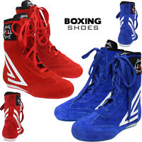 Leather Boxing Boots Shoes Long Anklet Boot Light Weight Footwears Mens, Adults