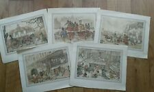 5 x ANTON PIECK Prints - Various Street Scenes - 2 sets to choose from - SET 2