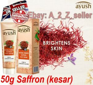🇬🇧 2 X (50g Each) Herbal Fairness Saffron kesar Face cream skin brightening UK