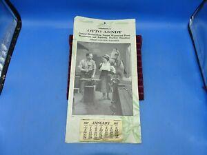 Antique Advertising 1917 Otto Arndt Blacksmithing Calendar Forest Junction Wis.