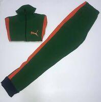 Puma Kinder Trainingsanzug Jacke Jogger Größe 4 Orange Grün
